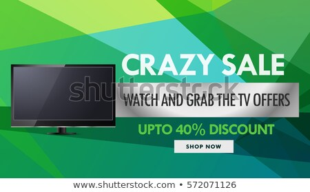 television and electronics sale and discount voucher design temp Stock photo © SArts