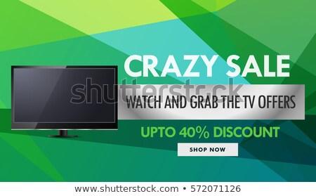 Televízió elektronika vásár árengedmény utalvány terv Stock fotó © SArts