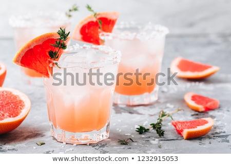Frissítő ital grapefruit koktél üveg bár Stock fotó © yelenayemchuk
