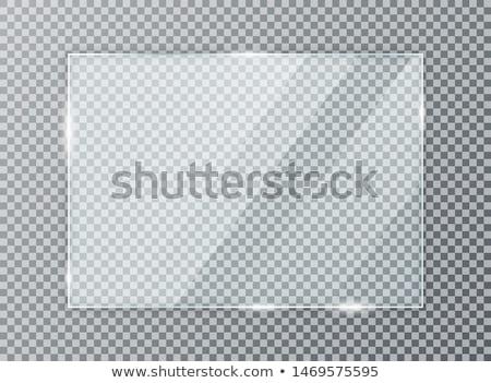 Transparente vidro placas usado texto parede Foto stock © SwillSkill