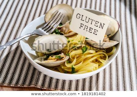 Kom schelpdier voedsel vis kruiden maaltijd Stockfoto © monkey_business