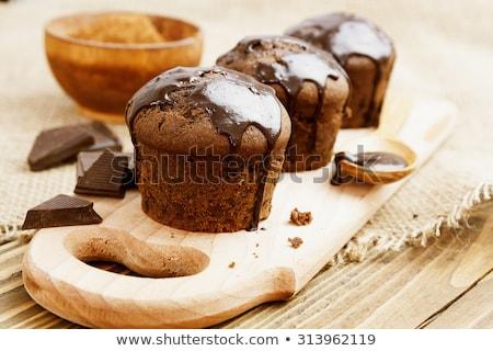 Csokoládé muffin dió étel torta desszert Stock fotó © Digifoodstock