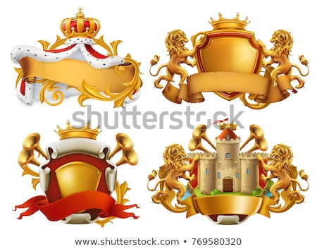 lion and queen logo stock photo © sdcrea