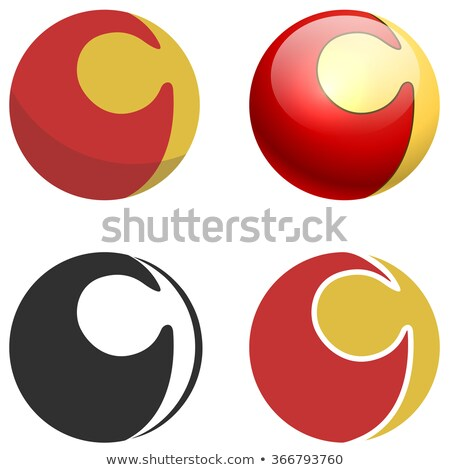 Puzzle lock sphere sign isolated on white. Flat, 3D and black an Stock photo © tuulijumala