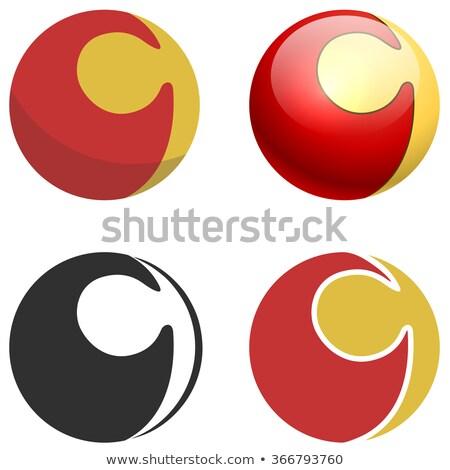 preto · círculo · globo · logotipo · da · empresa · vetor · ícone - foto stock © tuulijumala