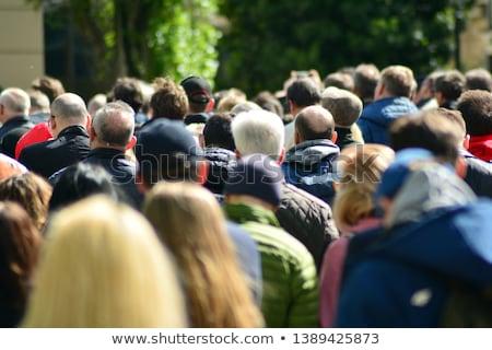 Defocused crowd attending political meeting Stock photo © stevanovicigor