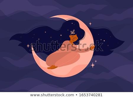 moonlight sleep in stock photo © albund