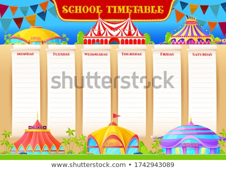 Times tables on circus tent Stock photo © bluering