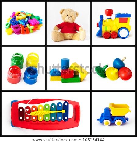 Zestaw zabawki biały projektu tle stres Zdjęcia stock © m_pavlov