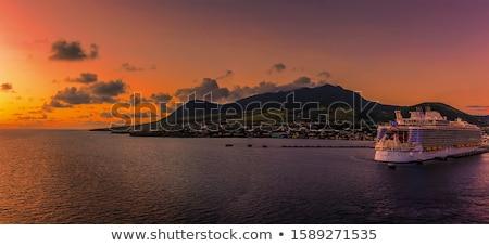 strand · naar · wolken · oceaan · zand · eiland - stockfoto © chrisukphoto
