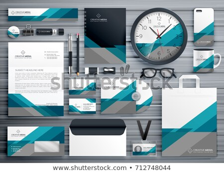 Profi üzlet irodaszer terv mértani forma Stock fotó © SArts