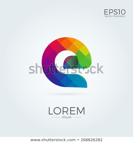 красный · письме · марка · логотип · шаблон - Сток-фото © jeksongraphics