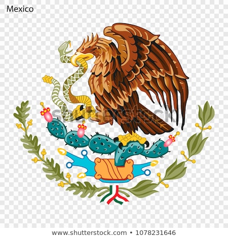 flag with the emblem of Mexico Stock photo © Olena