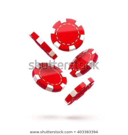 スタック カジノチップ 3D 孤立した 白 ストックフォト © kup1984