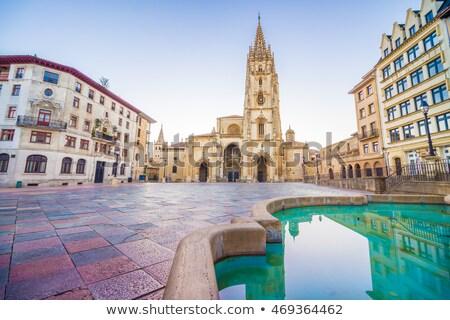 Katedral İspanya heykel şehir kilise Stok fotoğraf © asturianu