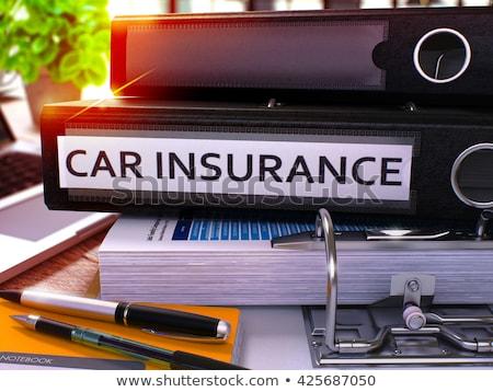 Car Insurance on Binder. Toned Image. 3D. Stock photo © tashatuvango