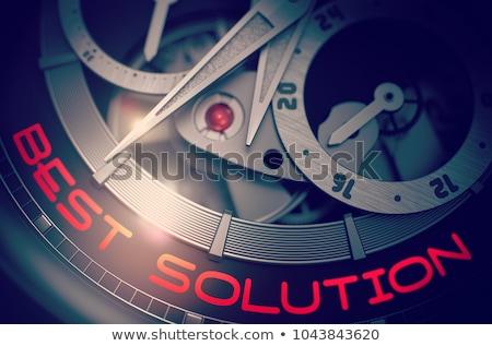 talent · strategie · vintage · horloge · 3d · illustration · tekst - stockfoto © tashatuvango