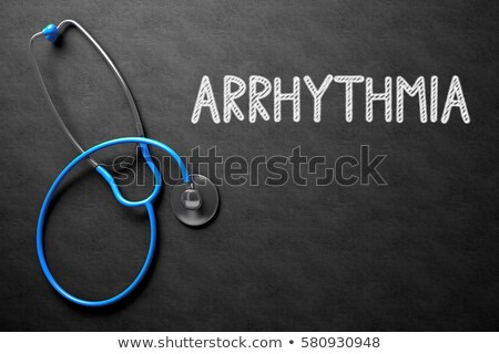 tachycardia concept on chalkboard 3d illustration stock photo © tashatuvango