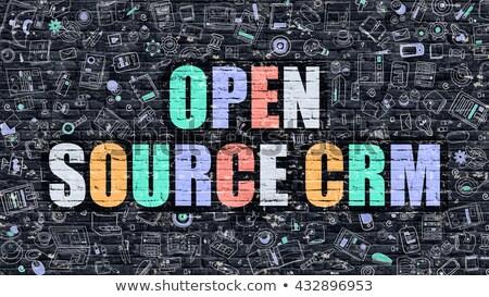 オープン ソース crm いたずら書き デザイン アイコン ストックフォト © tashatuvango