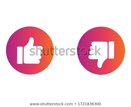 большой · палец · руки · вниз · вектора · икона · иллюстрация · стиль - Сток-фото © ecelop