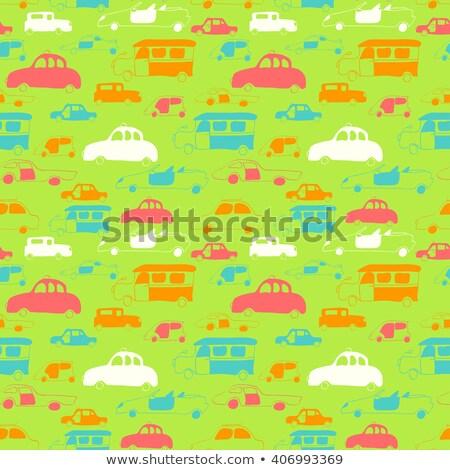 небольшой · зеленый · утилита · грузовика · иллюстрация · clipart - Сток-фото © vectorworks51