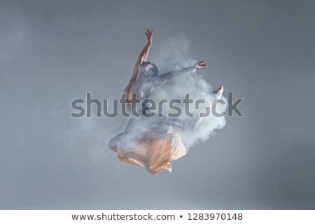 hermosa · bailarín · realizar · polvo · beige · cuerpo - foto stock © neonshot
