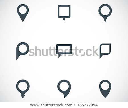 Set Of Mapping Pins Icon Stock photo © cammep
