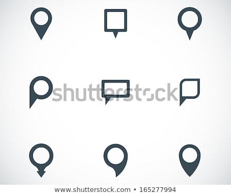 Zdjęcia stock: Set Of Mapping Pins Icon