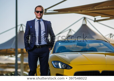 человека · пород · Sexy · красивый · мужчины · Солнцезащитные · очки - Сток-фото © konradbak