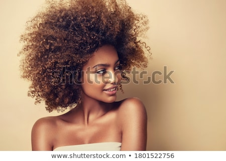 élégance · belle · brunette · coiffure - photo stock © svetography