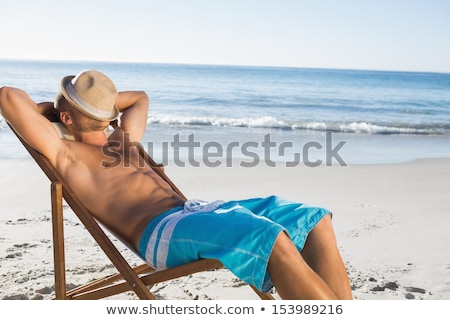 若い男 太陽 ビーチ クローズアップ 小さな ストックフォト © nito