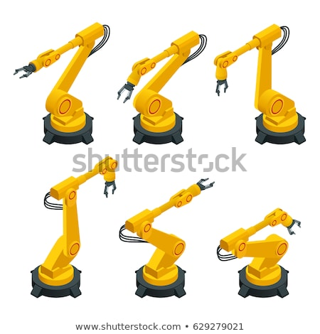 Automated robot arms 3d isometric vector illustration Stock photo © RAStudio