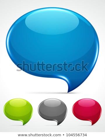 abstract glossy speech bubble stock photo © nobilior