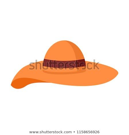 Groot hoed zomer illustratie grafisch ontwerp symbool Stockfoto © svvell