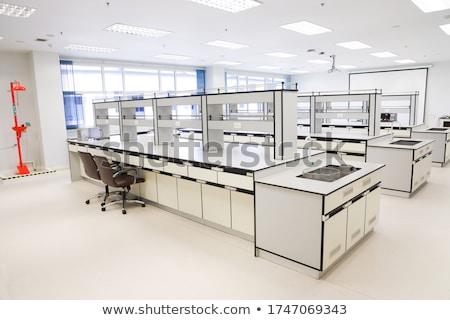 интерьер химии классе иллюстрация часы двери Сток-фото © bluering
