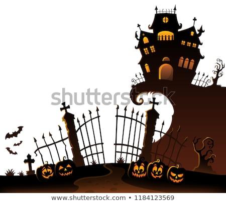 Halloween bate imagen luna noche dulces Foto stock © clairev