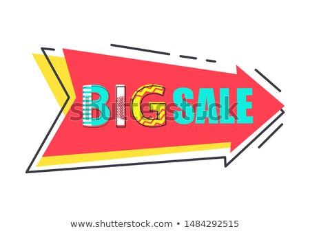 Big Sale Best Price Tag Flat Style with Super Cost Stock photo © robuart