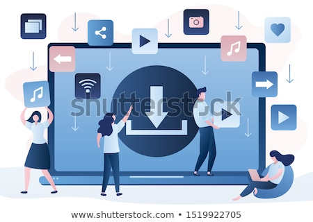 Shared data. Download files safely. Vector design. Stock photo © cifotart