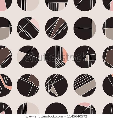 Elegante cirkels polka kunst patroon achtergrond Stockfoto © SArts