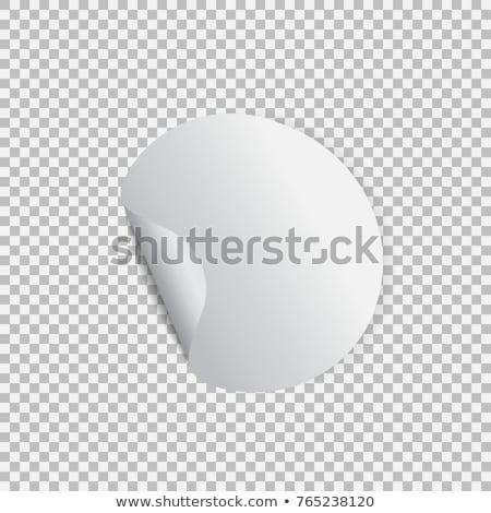 наклейку уголки прозрачный реалистичный Сток-фото © olehsvetiukha