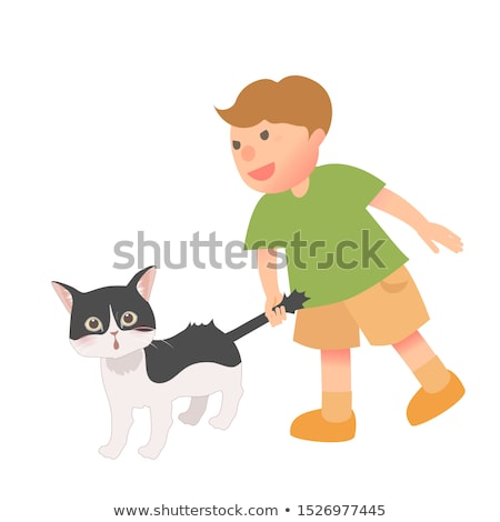 Rajz fiú pánik illusztráció fut gyermek Stock fotó © cthoman