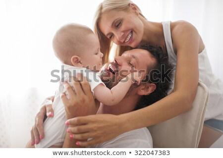 портрет мамы папу молодые сын играет Сток-фото © dmitriisimakov