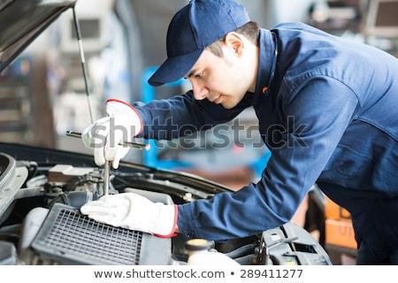 Automonteur workshop Blauw werken werknemer laboratorium Stockfoto © Minervastock