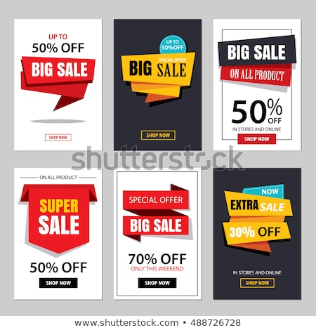 special promotion offer set vector illustration stock photo © robuart