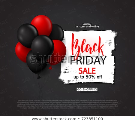 Moderno black friday balão abstrato projeto Foto stock © SArts