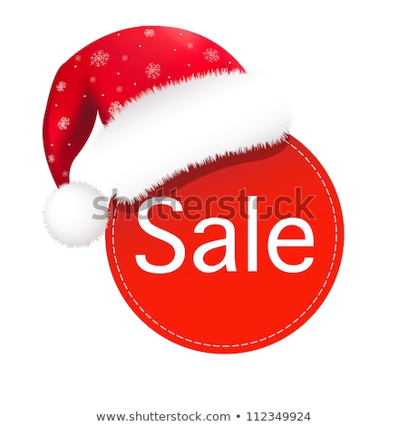 santa claus cap with paper banner stock photo © barbaliss