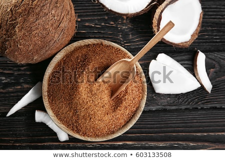 ボウル ココナッツ 砂糖 食品 新鮮な クリーム ストックフォト © Alex9500
