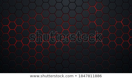 red and black 3d geometrical embossed diamond shape vector illus stock photo © cidepix
