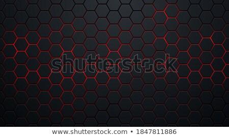 赤 黒 3D 幾何学的な ダイヤモンド ストックフォト © cidepix