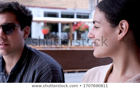 Paar dating restaurant mooie romantische hand Stockfoto © Kzenon